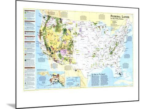 1996 Federal Lands in the Fifty States-National Geographic Maps-Mounted Art Print