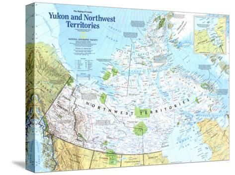 Yukon And Northwest Territories Map 1997-National Geographic Maps-Stretched Canvas Print