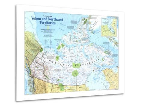 Yukon And Northwest Territories Map 1997-National Geographic Maps-Metal Print