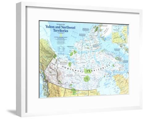 Yukon And Northwest Territories Map 1997-National Geographic Maps-Framed Art Print