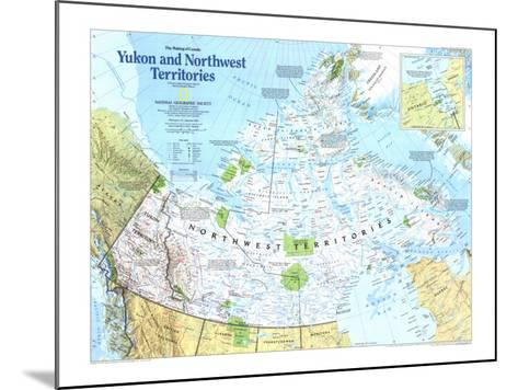Yukon And Northwest Territories Map 1997-National Geographic Maps-Mounted Art Print