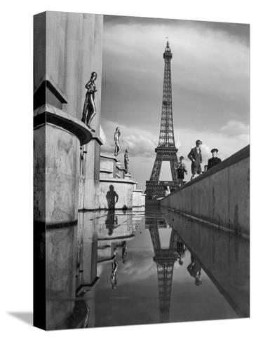 The Eiffel Tower was completed in 1889 for the World's Fair-Maynard Owen Williams-Stretched Canvas Print
