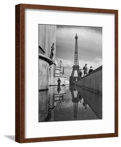 The Eiffel Tower was completed in 1889 for the World's Fair-Maynard Owen Williams-Framed Art Print