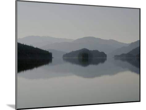 Clearing fog hangs above islands and scenery-Melissa Farlow-Mounted Photographic Print