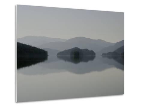 Clearing fog hangs above islands and scenery-Melissa Farlow-Metal Print