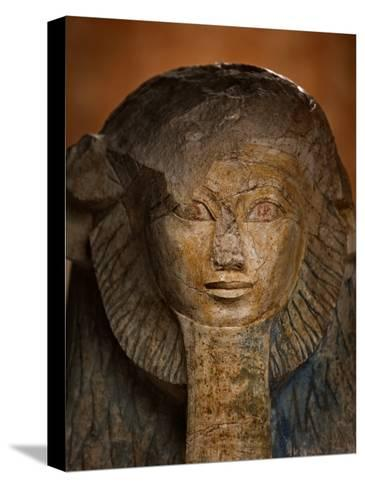 As a sphinx, Hatshepsut displays a lion's mane and a pharaoh's beard-Kenneth Garrett-Stretched Canvas Print
