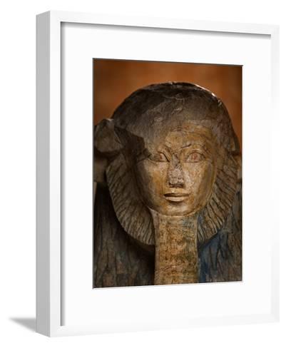 As a sphinx, Hatshepsut displays a lion's mane and a pharaoh's beard-Kenneth Garrett-Framed Art Print