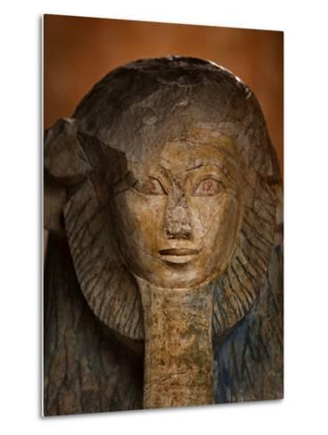 As a sphinx, Hatshepsut displays a lion's mane and a pharaoh's beard-Kenneth Garrett-Metal Print