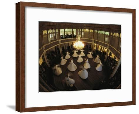 Dervishes dance to commemorate the death of their founder in 1273-James L^ Stanfield-Framed Art Print