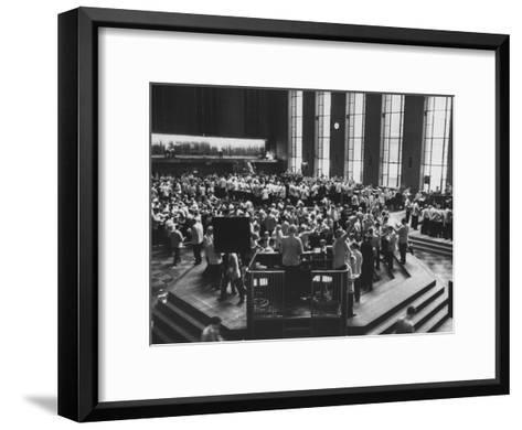 Chicago Board of Trade, as Proposed Wheat Sale to Russia Sends Prices Soaring-Robert W^ Kelley-Framed Art Print