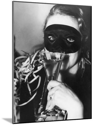 Woman in Mask Celebrating at a New Years Party--Mounted Photographic Print