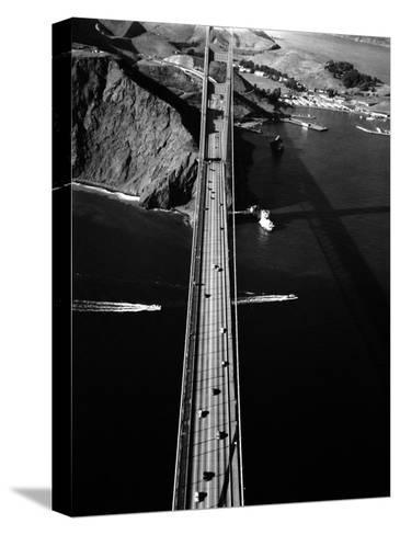 Aerial View of the Golden Gate Bridge-Margaret Bourke-White-Stretched Canvas Print