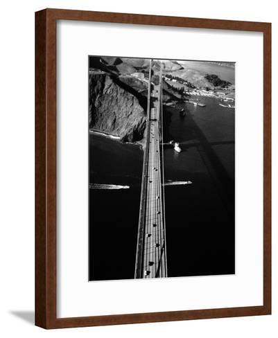 Aerial View of the Golden Gate Bridge-Margaret Bourke-White-Framed Art Print