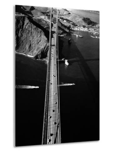 Aerial View of the Golden Gate Bridge-Margaret Bourke-White-Metal Print