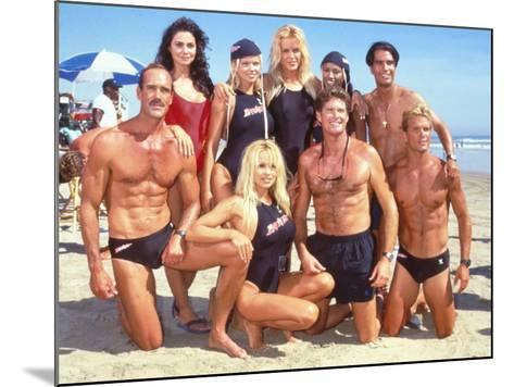 Cast of Syndicated Tv Series Baywatch Filming an Episode in Huntington Beach, Ca-Mirek Towski-Mounted Premium Photographic Print