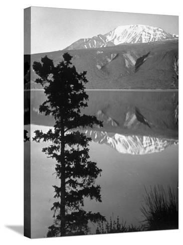 Lake Kluane with Snow-Capped Mountains Reflected in Lake-J^ R^ Eyerman-Stretched Canvas Print