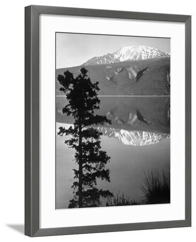 Lake Kluane with Snow-Capped Mountains Reflected in Lake-J^ R^ Eyerman-Framed Art Print