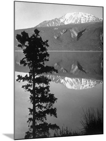 Lake Kluane with Snow-Capped Mountains Reflected in Lake-J^ R^ Eyerman-Mounted Photographic Print