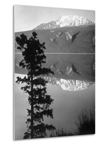 Lake Kluane with Snow-Capped Mountains Reflected in Lake-J^ R^ Eyerman-Metal Print