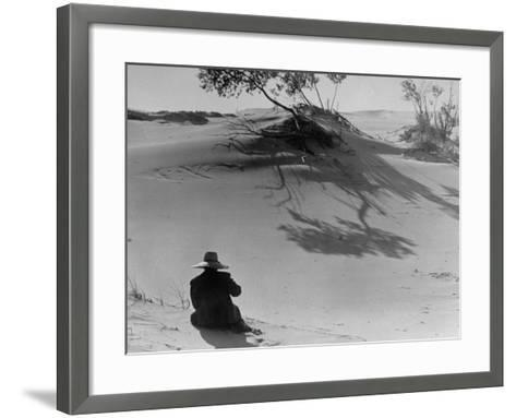 Sand Dunes Bordering Lake Michigan-Wallace Kirkland-Framed Art Print