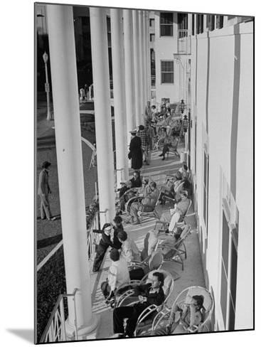 Porch-Sitting, One of Miamians Major Outdoor Sports, White House Hotel-Alfred Eisenstaedt-Mounted Photographic Print