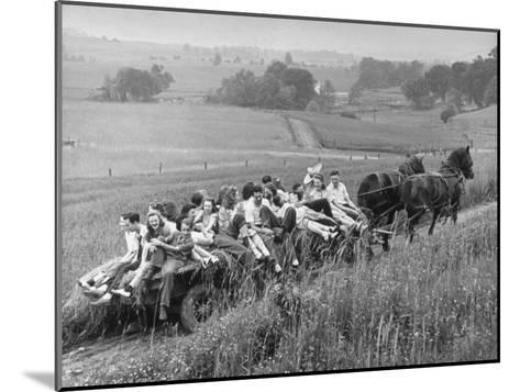 Hayride for Mansfield, Ohio, Senior High School Graduating Class-Alfred Eisenstaedt-Mounted Photographic Print