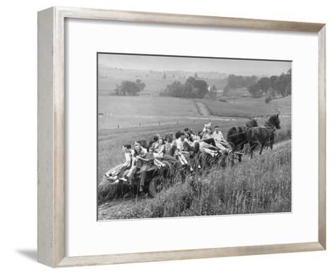 Hayride for Mansfield, Ohio, Senior High School Graduating Class-Alfred Eisenstaedt-Framed Art Print