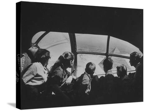 Retired Industrialist Thomas W. Kendall's Family Vacationing in their Private Plane-David Lees-Stretched Canvas Print