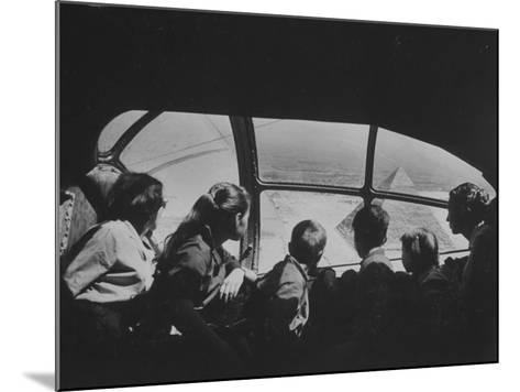 Retired Industrialist Thomas W. Kendall's Family Vacationing in their Private Plane-David Lees-Mounted Premium Photographic Print
