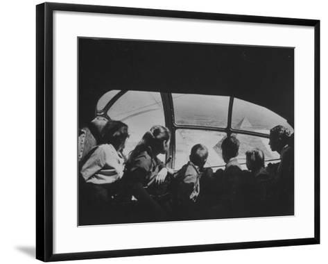 Retired Industrialist Thomas W. Kendall's Family Vacationing in their Private Plane-David Lees-Framed Art Print