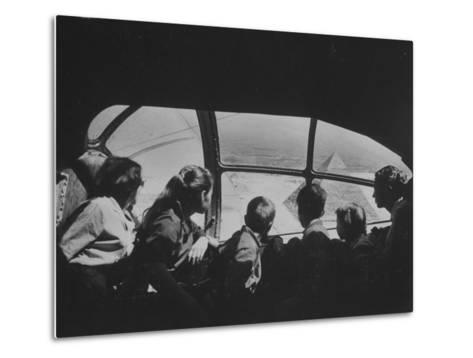 Retired Industrialist Thomas W. Kendall's Family Vacationing in their Private Plane-David Lees-Metal Print