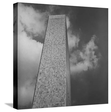 The Secretariat Building, Made of Marble and Glass, United Nations Permanent Headquarters, New York-Walker Evans-Stretched Canvas Print
