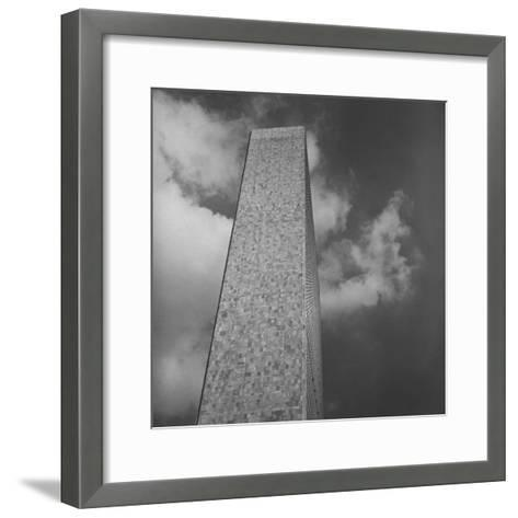 The Secretariat Building, Made of Marble and Glass, United Nations Permanent Headquarters, New York-Walker Evans-Framed Art Print