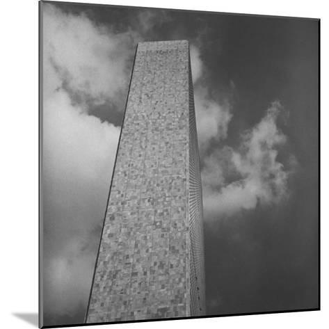 The Secretariat Building, Made of Marble and Glass, United Nations Permanent Headquarters, New York-Walker Evans-Mounted Photographic Print