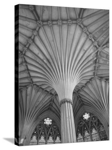 Fluted Columns of the Wells Cathedral-Dmitri Kessel-Stretched Canvas Print