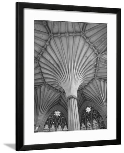 Fluted Columns of the Wells Cathedral-Dmitri Kessel-Framed Art Print