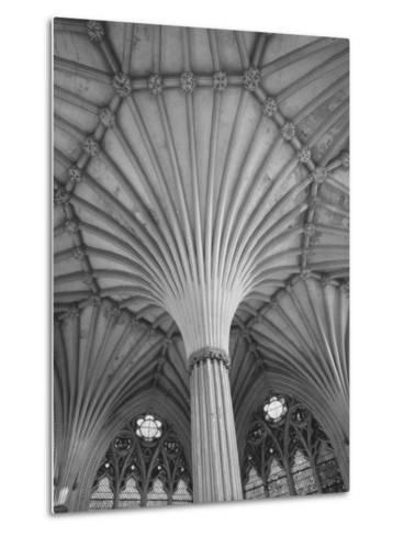 Fluted Columns of the Wells Cathedral-Dmitri Kessel-Metal Print