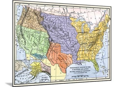 Map Showing the Territorial Growth of the Continental Us 1776 to 1899--Mounted Giclee Print