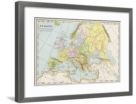 Map of Europe During the Early Protestant Reformation--Framed Art Print