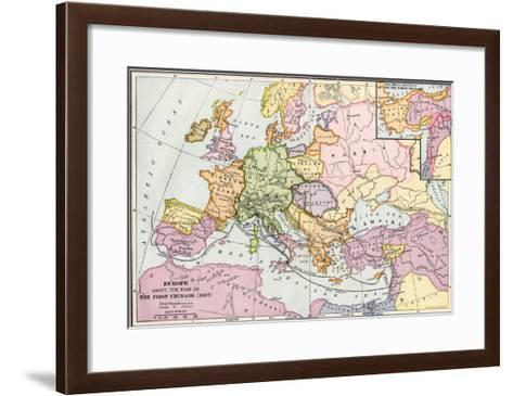 Map of Europe at the Time of the First Crusade, 1097 Ad--Framed Art Print