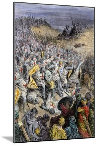 Crusaders under Godfrey of Bouillon, Defeating Muslim Forces of Sultan Kilij Arslan, Dorylaeum--Mounted Giclee Print