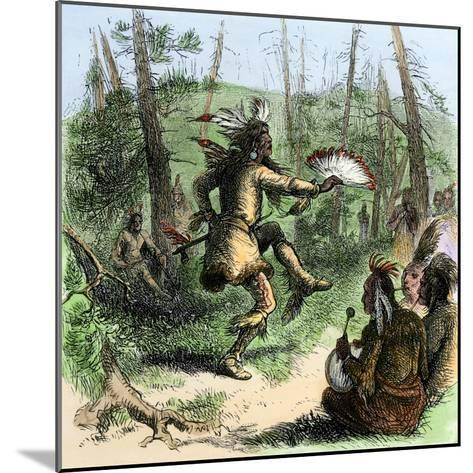 Native American Shaman Leading a Ceremonial Dance--Mounted Giclee Print