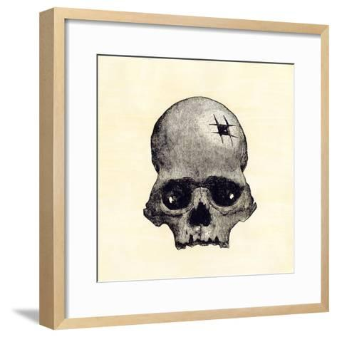Inca Skull Showing Evidence of Prehistoric Trephining or Brain Surgery in Peru--Framed Art Print