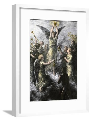 """Celebration of Angels in the Prelude to Wagner's """"Lohengrin""""--Framed Art Print"""