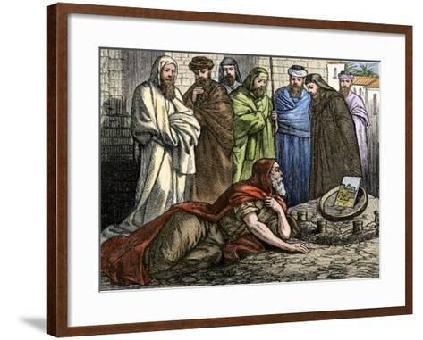 Prophet Ezekiel Telling About His Visions from God--Framed Art Print