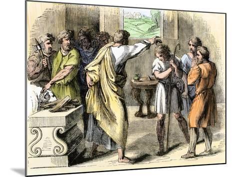 Samuel Annointing David King of Judah and Israel--Mounted Giclee Print