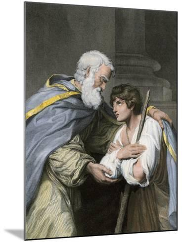Prodigal Son Returns Home and Asks His Father's Forgiveness, a Parable in the Biblical Book of Luke--Mounted Giclee Print