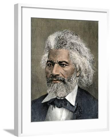 Frederick Douglass Portrait--Framed Art Print