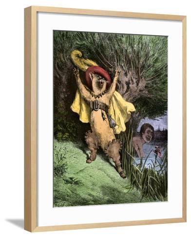 Puss-In-Boots--Framed Art Print