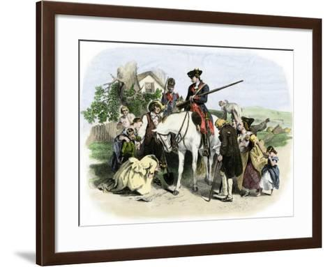 Townspeople of Winchester, Virginia, Appeal to George Washington, French and Indian War--Framed Art Print